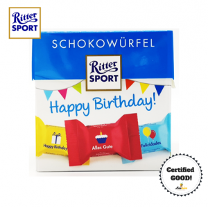 Ritter Sport Happy Birthday Schokowurfel 176g 22pcs