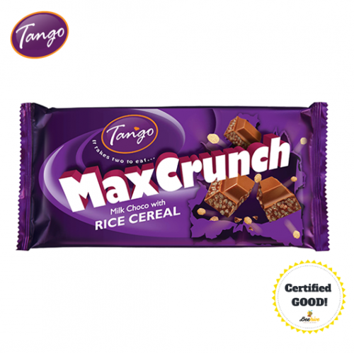 Tango Max Crunch Milk Choc with Rice Cereal 140g