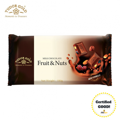 Tudor Gold Fruit n Nuts Milk Chocolate 180g