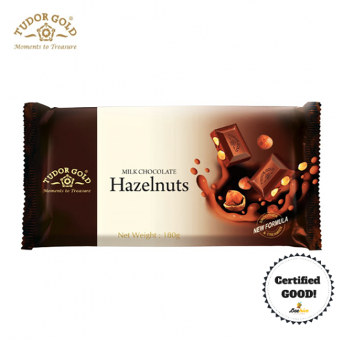 Tudor Gold Hazelnuts Milk Chocolate 180g