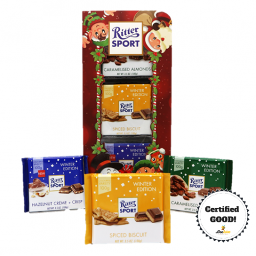 Ritter Sport Christmas Chocolate Winter Edition (3 in a Set)