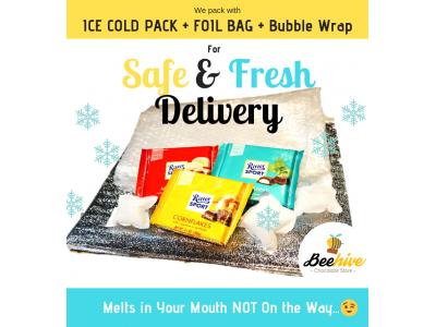 Beehive Christmas Gift Box with Chocolates