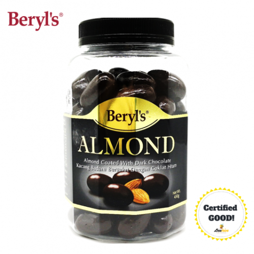 Beryls Almond Coated with Dark Chocolate 450g