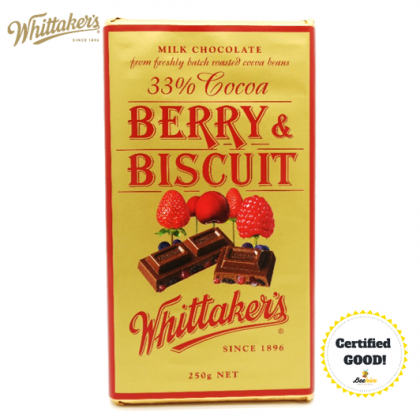 Whittakers Berry n Biscuit Chocolate 33% Cocoa 250g