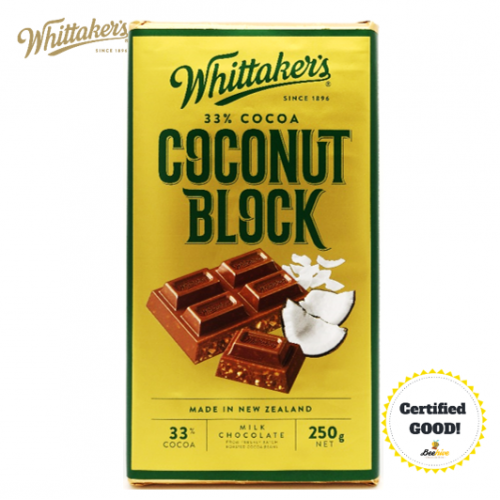 Whittakers Coconut Block in Creamy Milk Chocolate 33% 250g
