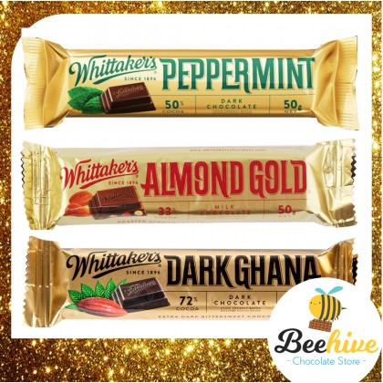 Whittakers Peppermint Dark Chocolate 50% Cocoa 50g