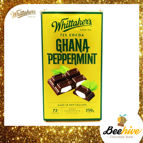 Whittakers Ghana Peppermint Dark Chocolate 72% Cocoa 250g