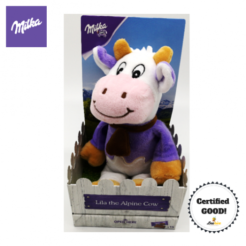 Milka Lila the Alpine Cow Doll with 15pieces Milka Chocolates
