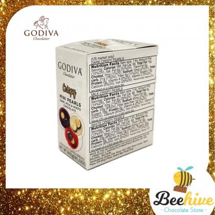GODIVA Crispy Mini Pearls - Dark, Milk & White Chocolate 105g
