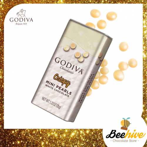 GODIVA Crispy Mini Pearls White Chocolate 35g