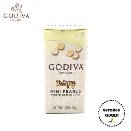 GODIVA Crispy Mini Pearls White Chocolate 35g