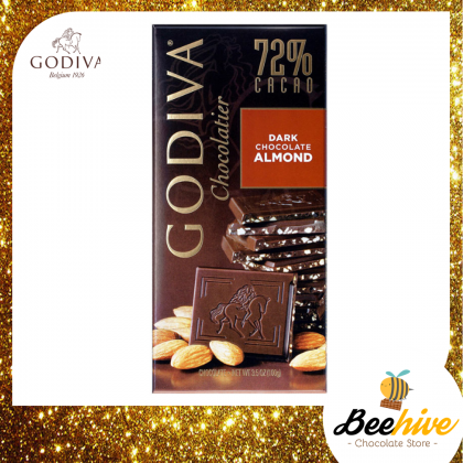 GODIVA 72% Dark Chocolate Almond 100g