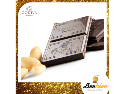 GODIVA 72% Dark Chocolate Almond 100g