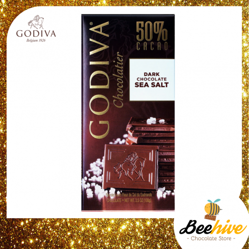 GODIVA 50% Dark Chocolate Sea Salt 100g
