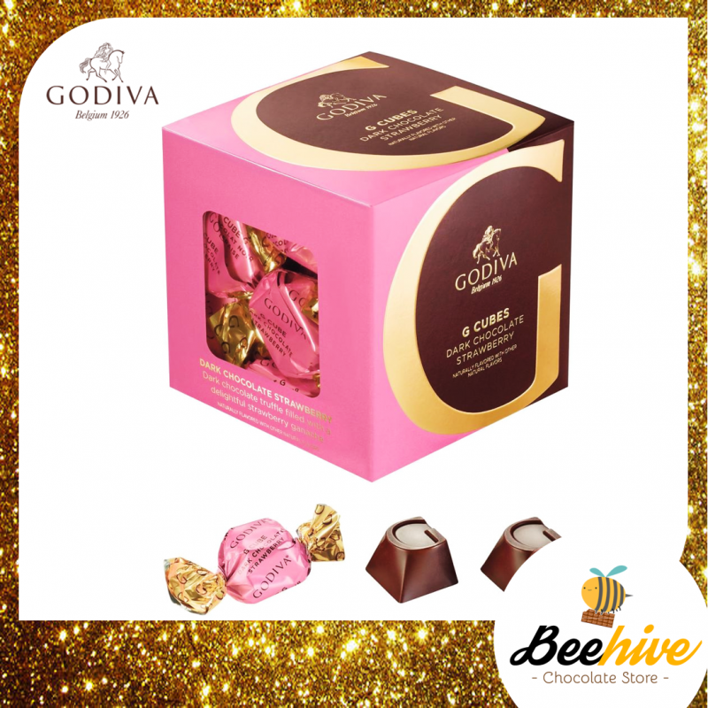 GODIVA G Cube Dark Chocolate Strawberry 175g (22pcs)
