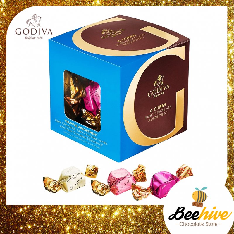 GODIVA G Cube Dark Chocolate Assortment 175g