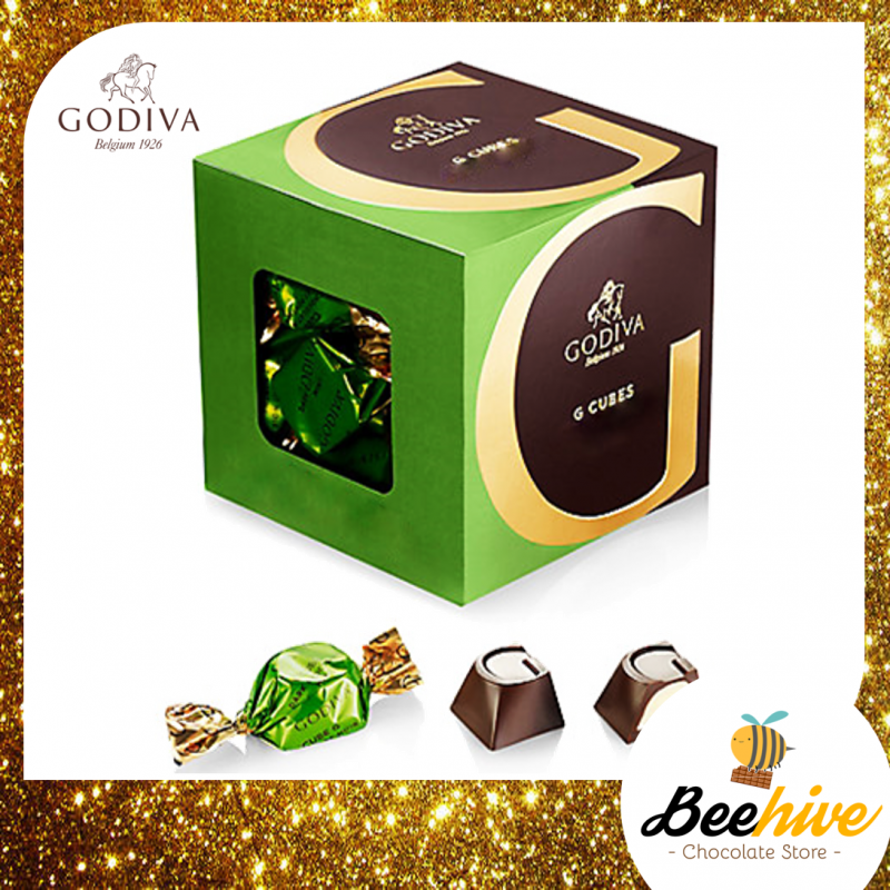 GODIVA G Cube Green Tea Milk Chocolate 175