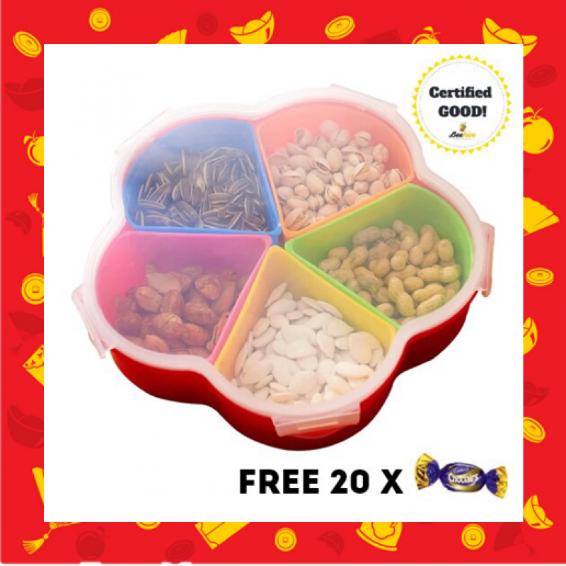 Serving Centre Snack Tray with Cover FREE 20x Cadbury Choclairs