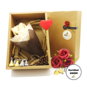 Beehive Handmade Flower Bouquet & Hersheys Chocolates Gift Set