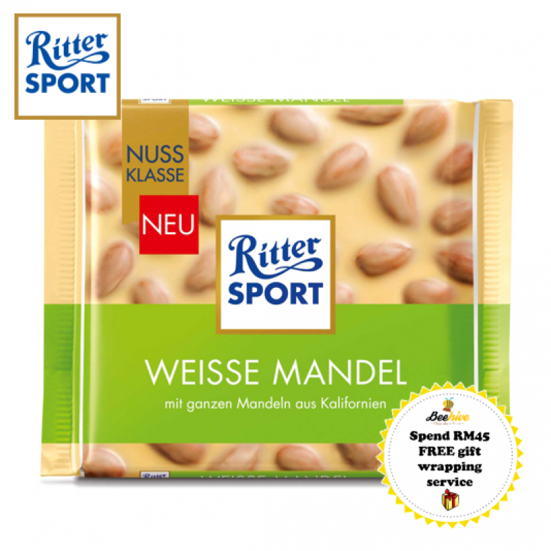 RITTER SPORT White Chocolate Almond 100g