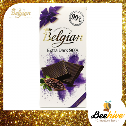 Belgian Extra Dark Chocolate 90% 100g