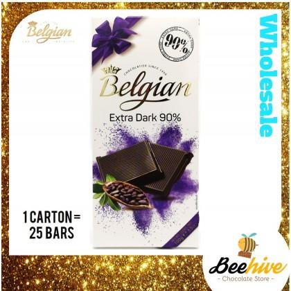 Belgian Extra Dark Chocolate 90% 100g