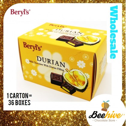 Beryl's Durian Milk Chocolate with Durian Filling 60g
