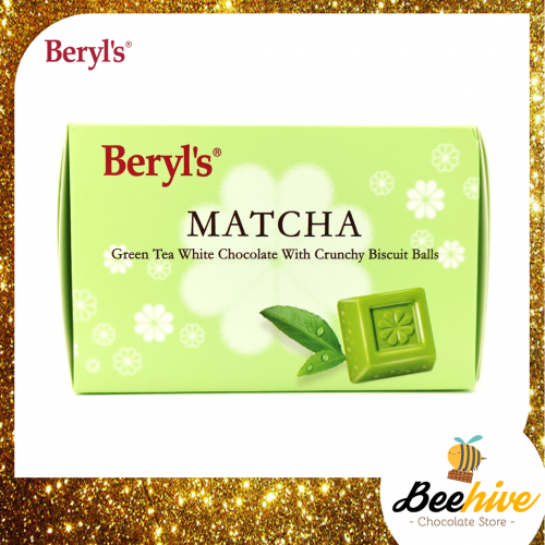 Beryl's Matcha Green Tea White Chocolate with Crunchy Biscuit Balls 60g