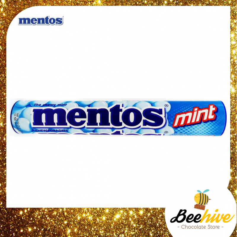 Giant Mentos Tube Mint Chewy Candy 8 rolls 296g