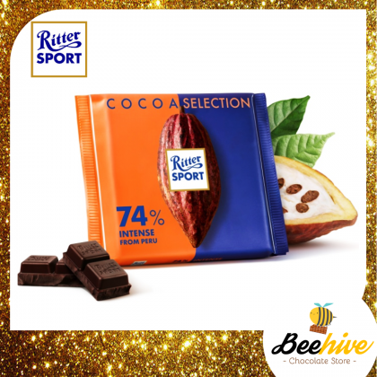 Ritter Sport Cocoa Selections 74% Intense Dark Chocolate from Peru 100g