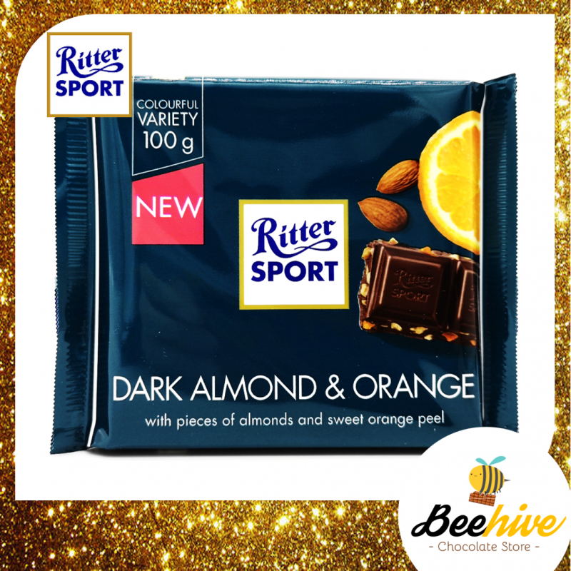Ritter Sport Dark Almond and Orange Chocolate 100g