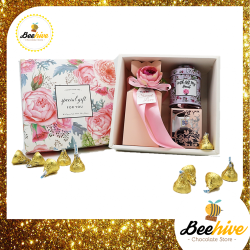 Beehive Sweet Pink Chocolate Surprise Gift Set