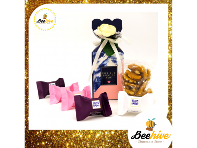 Beehive Marble Blue Chocolate, Tea & Nuts Surprise Gift Box