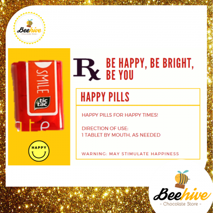 Beehive Orange / Passion Fruit Peach Tic Tac Mini Happy Pills Surprise Gift