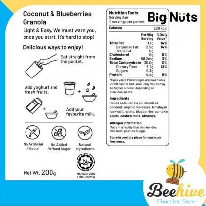 Big Nuts Healthy Snack Granola Coconut Blueberries 200g