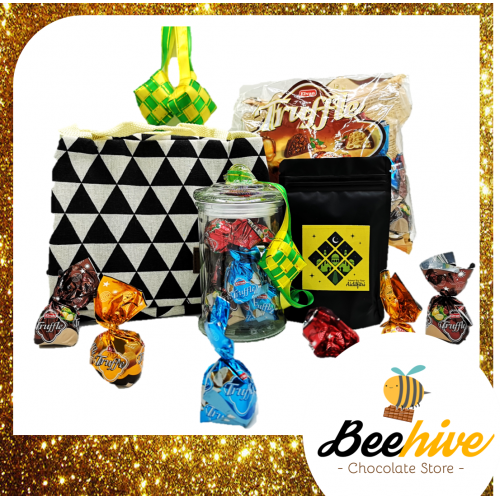 Beehive Elvan Truffle Assortment Chocolate Raya Gift Set with Cooler Bag (Assorted Colours)