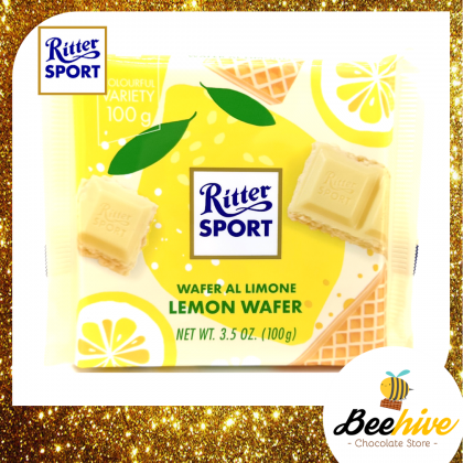 Ritter Sport Lemon Wafer White Chocolate 100g [Limited Edition]