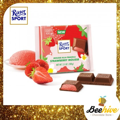 Ritter Sport Strawberry Mousse Chocolate 100g [Limited Edition]