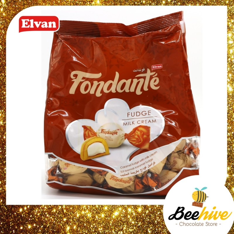 Elvan Fondante Fudge Milk Cream Chocolate 500g