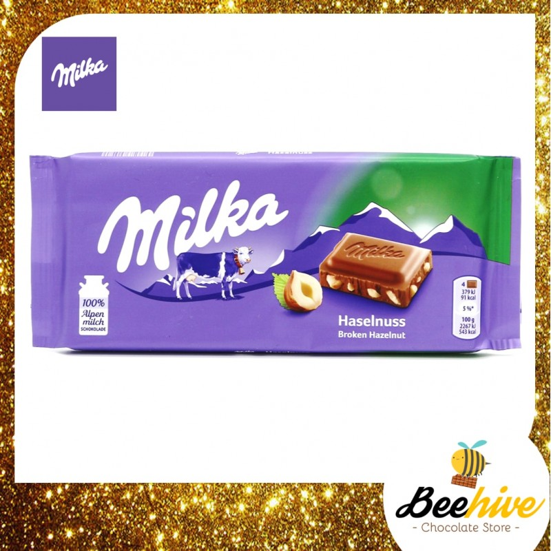 Milka Hazelnut Chocolate 100g