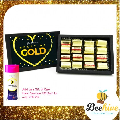 Beehive Heart of Gold Chocolate Black Gift Box