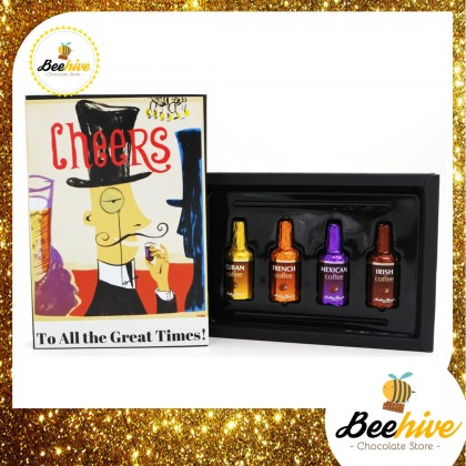 Beehive Anthon Berg Chocolate Coffee Liquor Black Gift Box